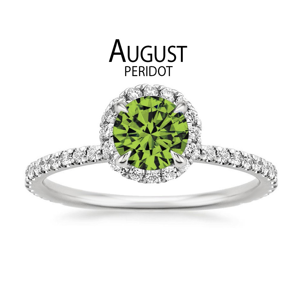 Birthstone Engagement Rings for August: