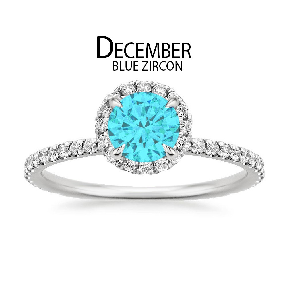Birthstone Engagement Rings for December