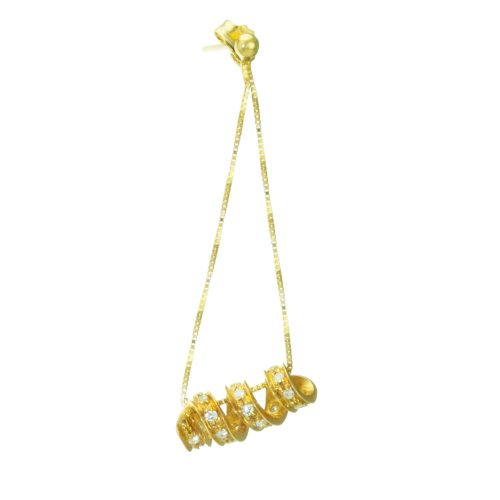 14K Yellow Gold Twist Design Earring