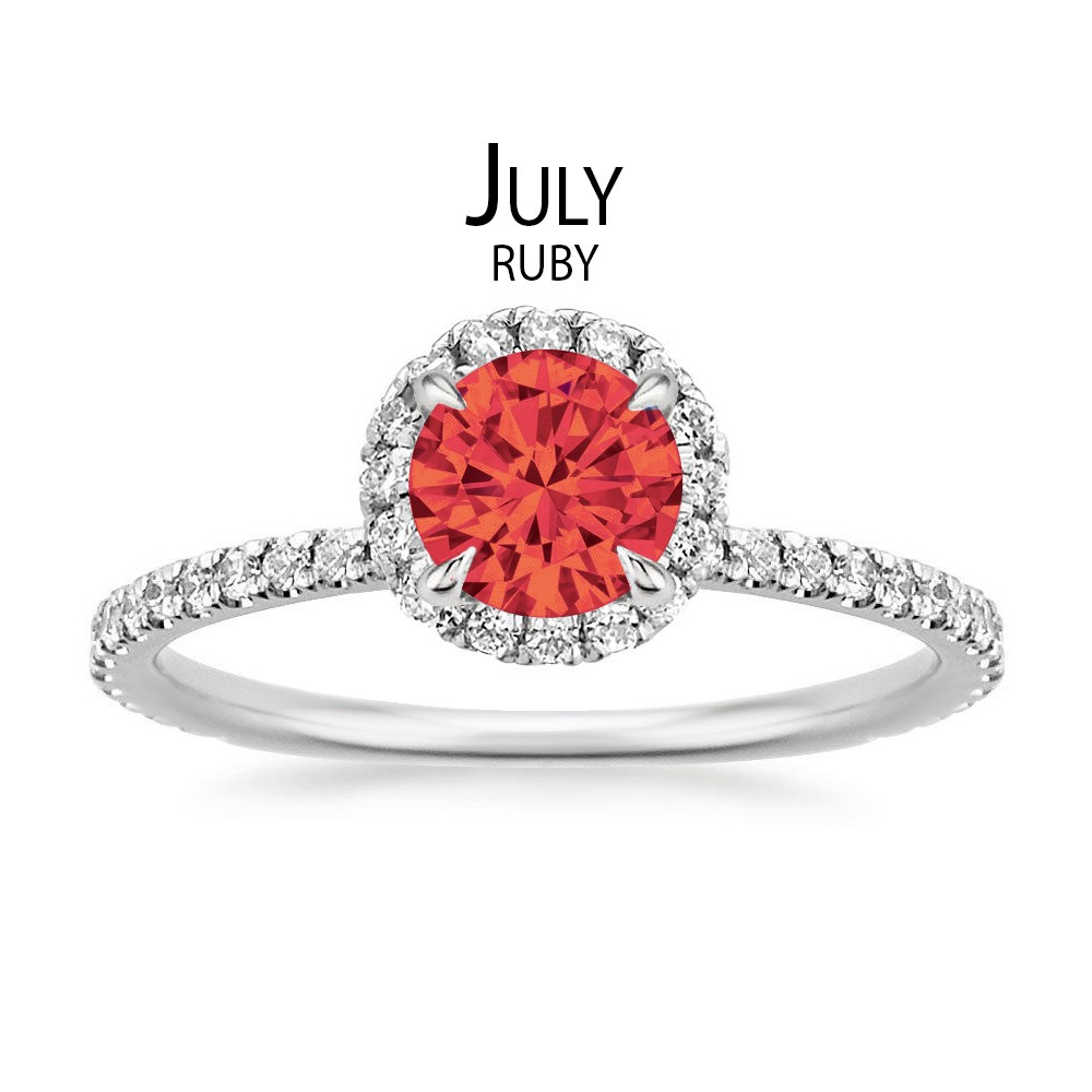 Birthstone Engagement Rings for July