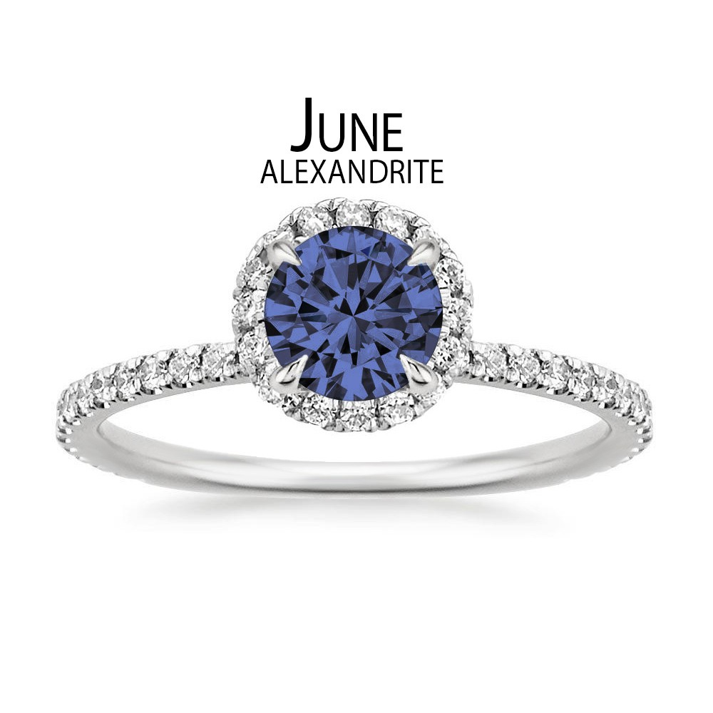 Birthstone Engagement Rings for June