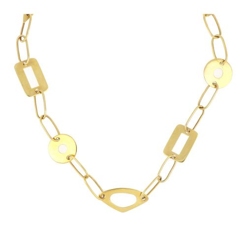 18K Yellow Gold Hand Made Necklace