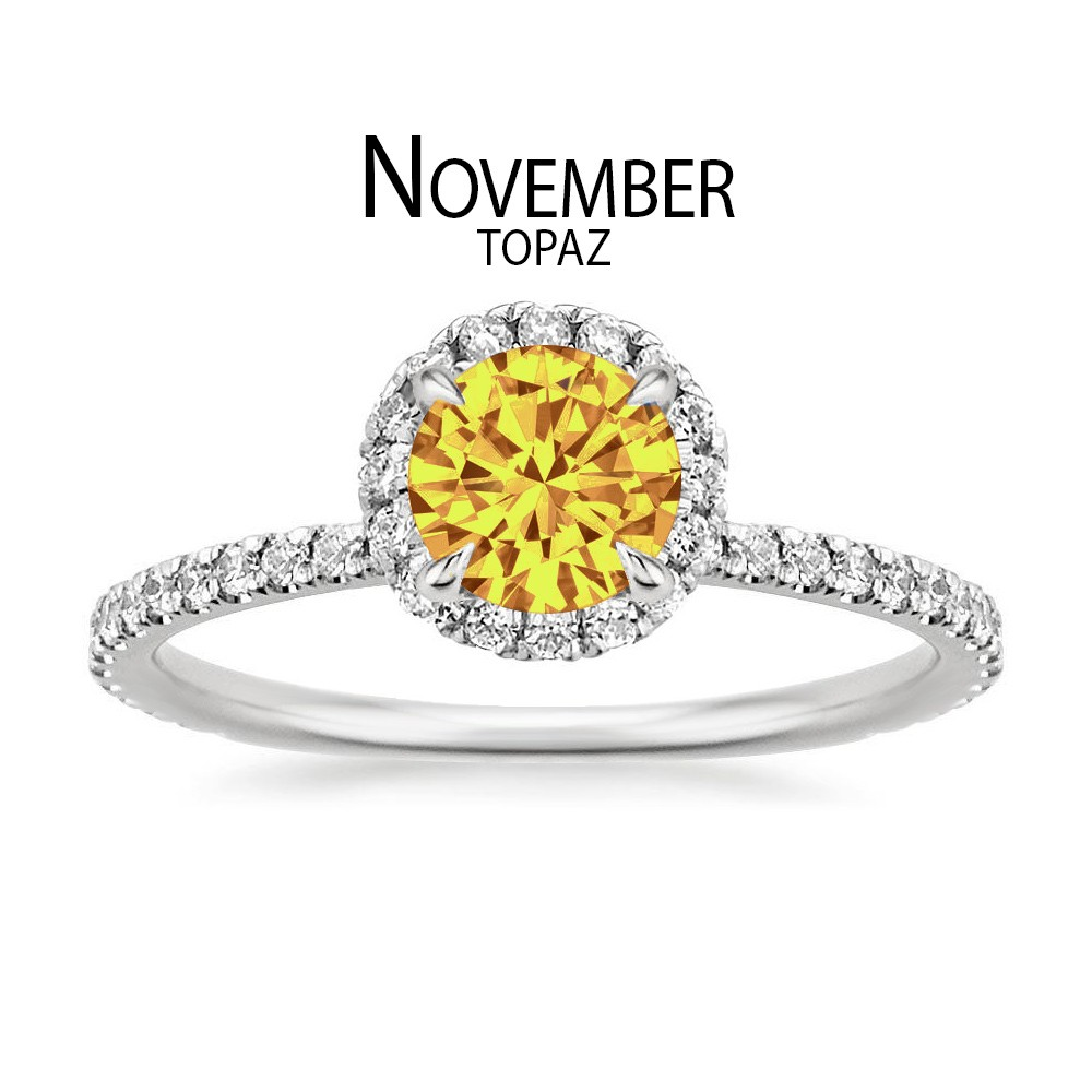 Birthstone Engagement Rings for November