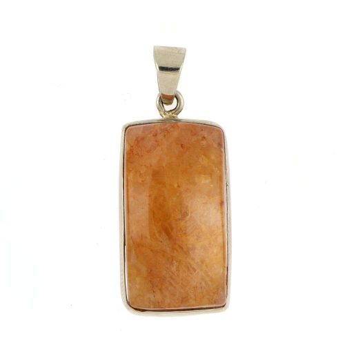 10K Yellow Gold Honey Agate Pendant