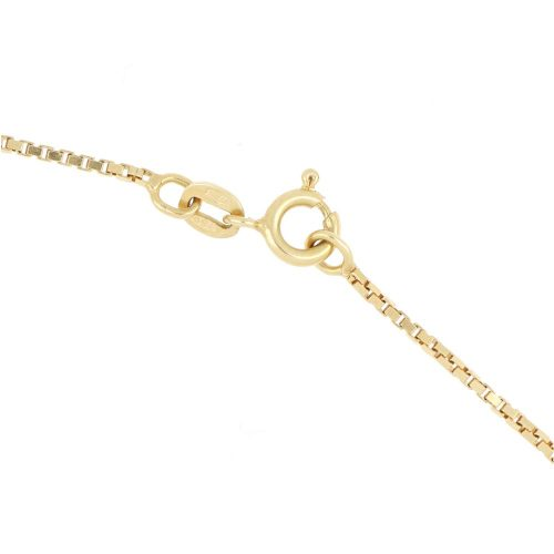 18k Yellow Gold Leaf Design Necklace