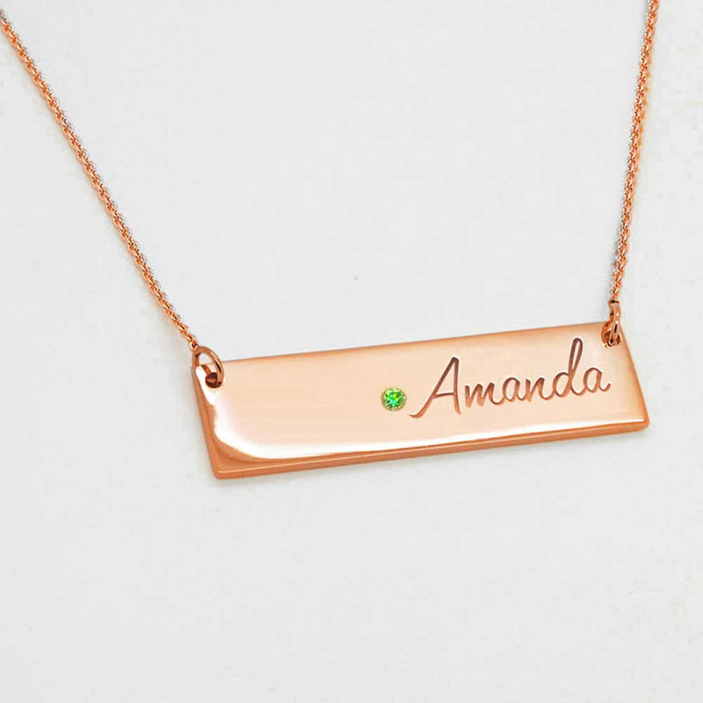 Personalized Name Engraved Necklace