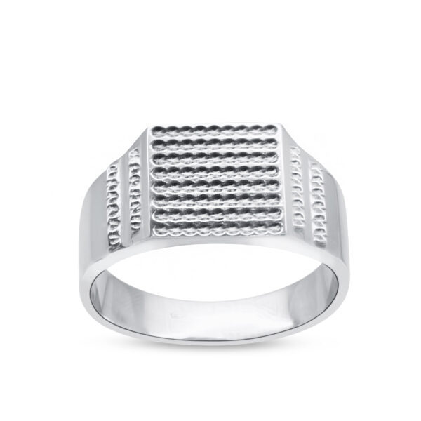 18K Men's Modern Wedding Band
