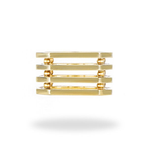 Men's Modern Design Band in 14K Yellow Gold