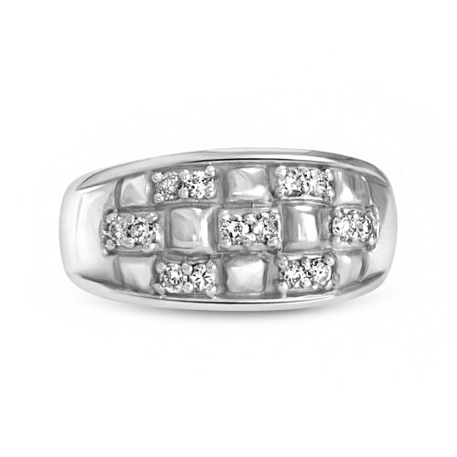 Men's Wedding Ring 18K White Gold