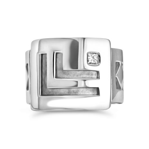 Men's Wedding Band 18K White Gold