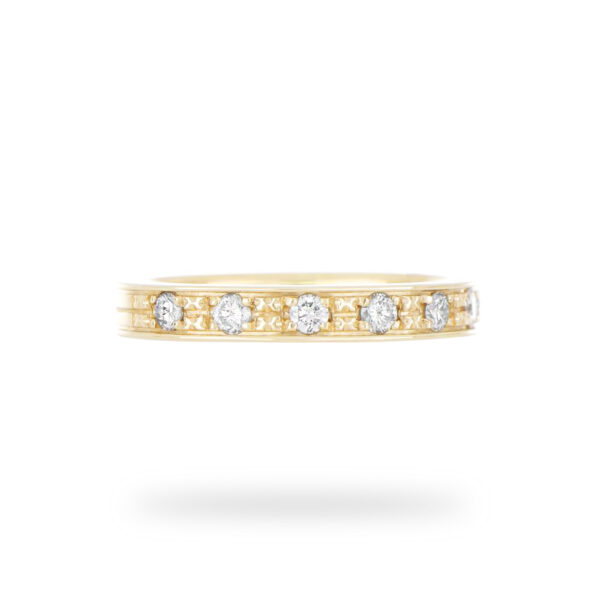 0.30 CT. Diamond Pave Wedding Band in 18k Yellow Gold