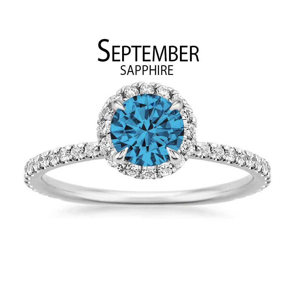 Birthstone Engagement Rings for September