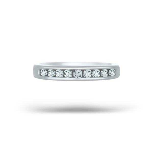 0.27 CT. Diamond Women Wedding Band In 14K White Gold