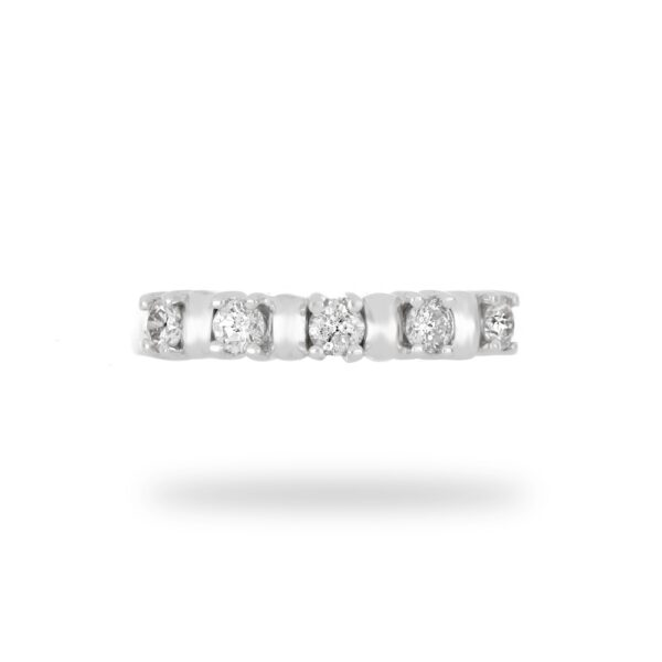 0.50 CT. Diamond Handmade Wedding Band in 18k White Gold